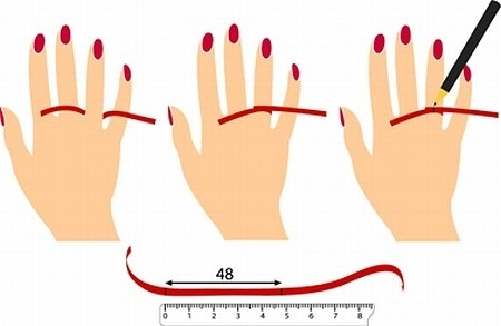 How to determine ring size secretly